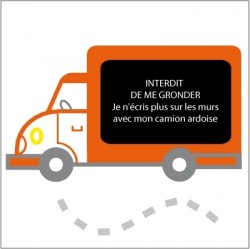 Stickers Ardoise camion