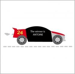 Stickers Ardoise Voiture de course
