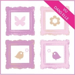 Stickers Cadres Pop Art Mini Vu dans ELLE Rubrique cadeaux naissance