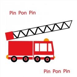 Stickers camion de pompiers