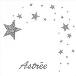 Stickers comète d'étoiles
