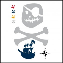 Stickers Décor Pirate