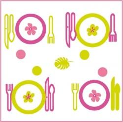 Stickers Dinette Verte