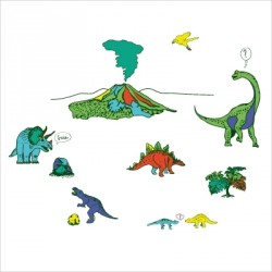 Stickers Dinosaures Land