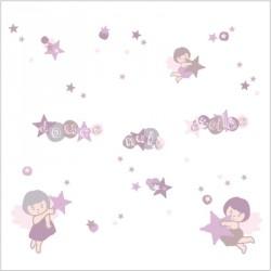Stickers douce nuit étoilée fille