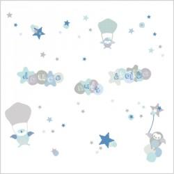 Stickers douce nuit étoilée garçons