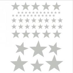 Stickers Etoiles  gris clair