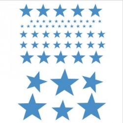 Stickers Etoiles bleu
