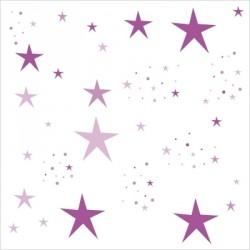 Stickers Etoiles Magiques violets et mauves