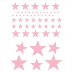 Stickers Etoiles rose pale