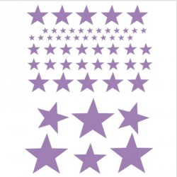 Stickers Etoiles violet