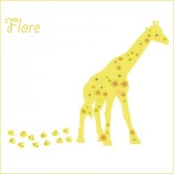 Stickers Flore la jolie girafe
