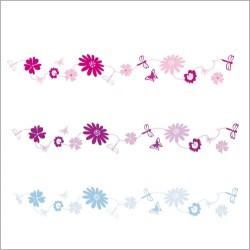 Stickers Frise fleurs