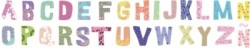 Stickers Frise lettres patchwork