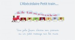 Stickers frise Petit train