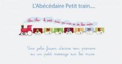 Stickers frise Petit train
