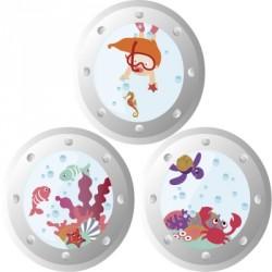 Stickers Hublots aquatiques filles