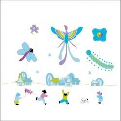 Stickers L'envol des cerfs volants - Décor adhésif 1