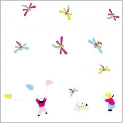 Stickers La chasse aux libelulles - Décor adhésif 2