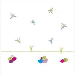 Stickers La mare aux libelulles - Décor adhésif 2