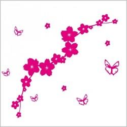 Stickers Le jardin aux papillons - Fuschia
