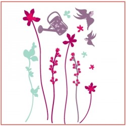 Stickers Le jardin en fleurs