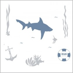 Stickers Le requin
