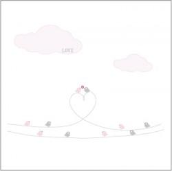 Stickers Les oiseaux d'amour - Décor 1