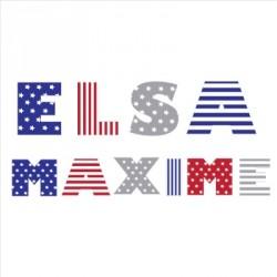 Stickers lettres drapeau