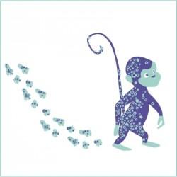 Stickers Lulu le petit singe malin