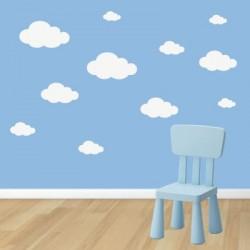 Stickers nuages cumulus