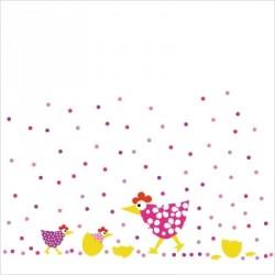 Stickers Poules confettis