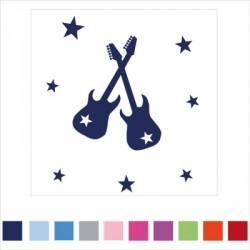 Stickers prénom guitare