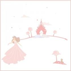 Stickers Rêves de princesse rose