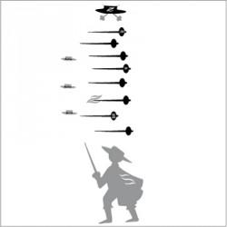Stickers Toise Zorro Gris