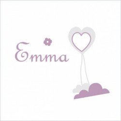 Stiker prénom Emma coeur