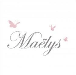 Stiker prénom papillon Maëlys