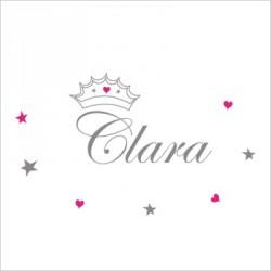 Stiker prénom princesse Clara