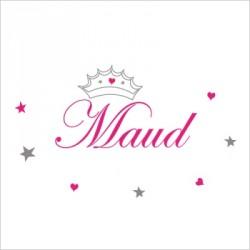 Stiker prénom princesse Maud