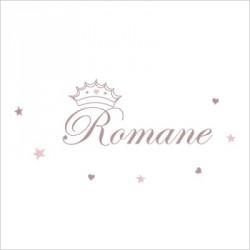 Stiker prénom princesse Romane