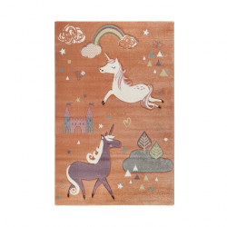 Tapis enfant Sunny Unicorn orange