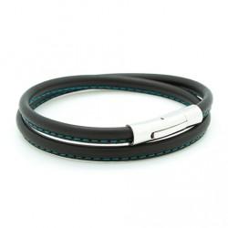 Bracelet Le Surpiqué turquoise - Acier