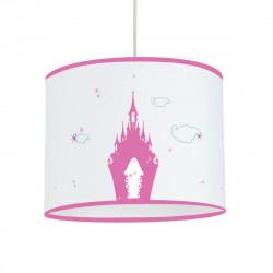 Suspension étoiles chateau rose