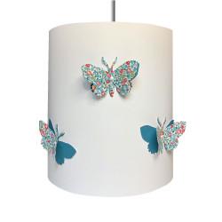 Suspension papillons 3D liberty Eloise aile bleu canard