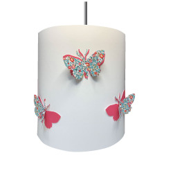 suspension papillons 3D liberty Eloise aile rose