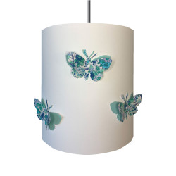 Suspension papillons 3D liberty Elysian aile bleu