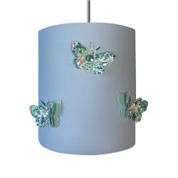 suspension papillons 3D  Elysian fond bleu ciel