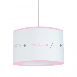 Suspension frise princesse cylindrique personnalisable