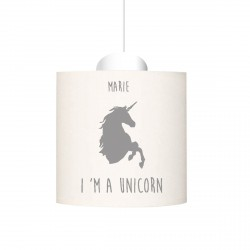 Suspension I'm a unicorn gris personnalisable