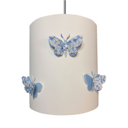 Suspension papillons 3D liberty Mitsi bleu